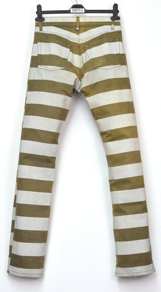 1999 Compact Cotton Jeans with Printed Stripes