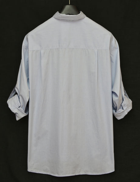 2003 Check Cotton Oversized Bondage Shirt with Buttoned Sides