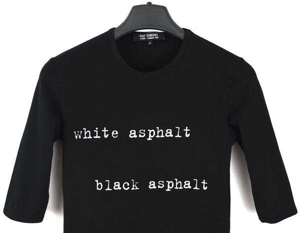 2003 Compact Stretch Jersey 'White Asphalt, Black Asphalt' T-shirt (Black)