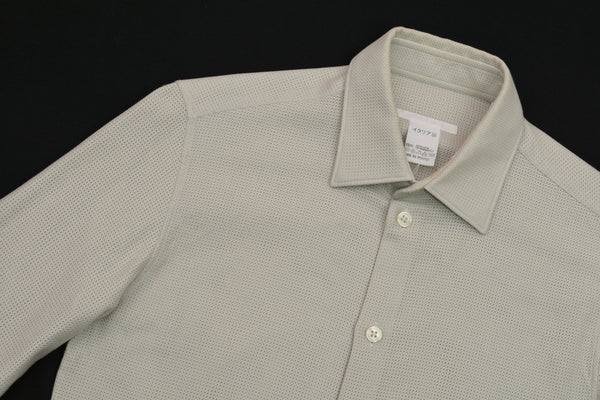 2002 Compact Interwoven Mesh Slim Shirt