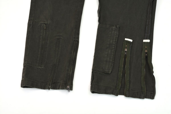 2005 Vintage Stretch Twill Biker Cargo Trousers