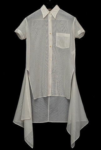 1993 Cotton Mesh Shirt with Extended Panels