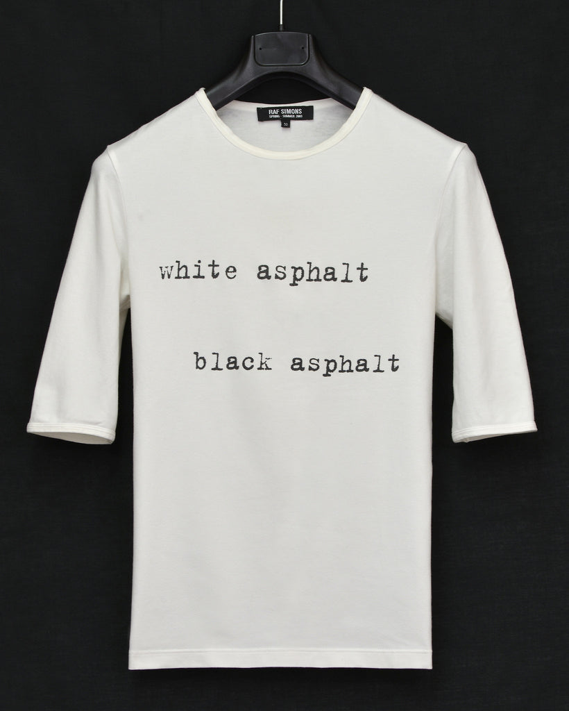 2003 Compact Stretch Jersey 'White Asphalt, Black Asphalt' T-shirt (White)