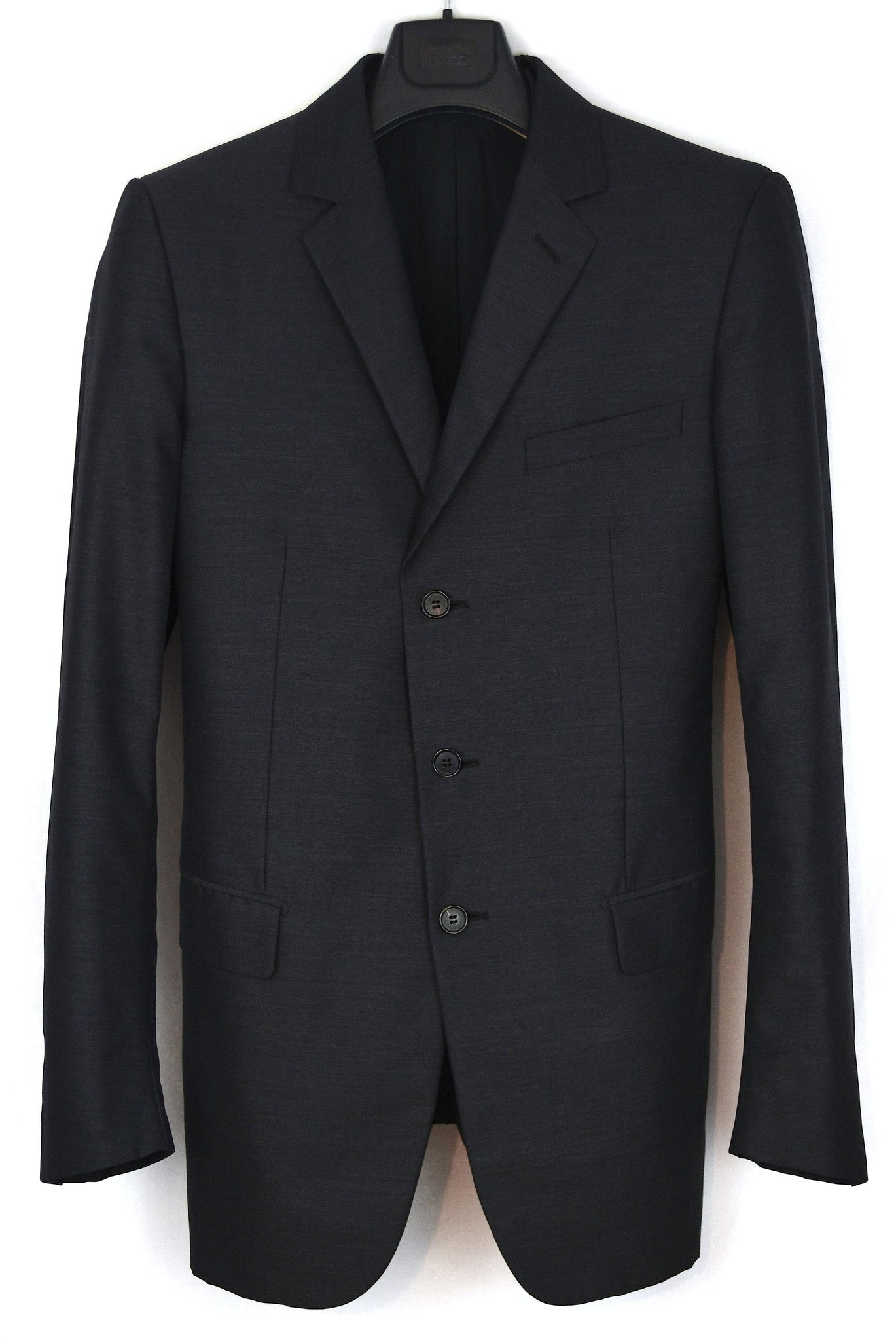 2002 Coated Silk/Wool Hand-Tailored Blazer Jacket