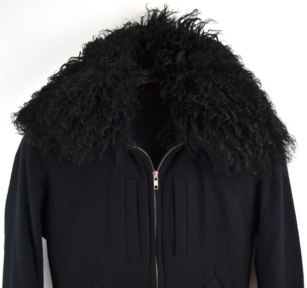 2007 Virgin Wool Aviator Blouson with Lamb Fur Collar