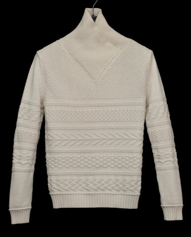 2006 Heavy Virgin Wool Futuristic Aran Sweater