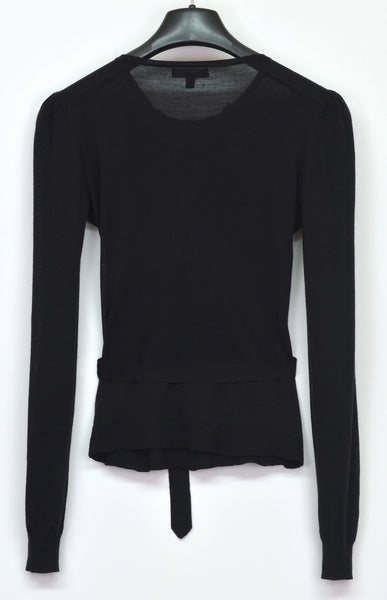 2006 Silk/Virgin Wool Belted Sweater with Pleated Detail