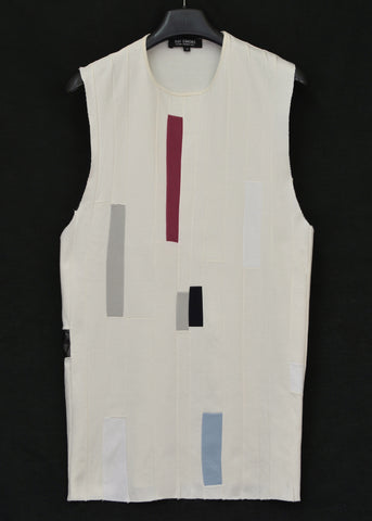 2007 Abstract Patchwork Oversized Tank Top
