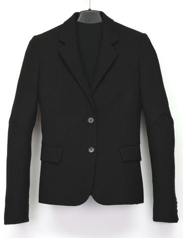 2004 Brushed Virgin Wool Blazer Jacket with Biker Sleeves