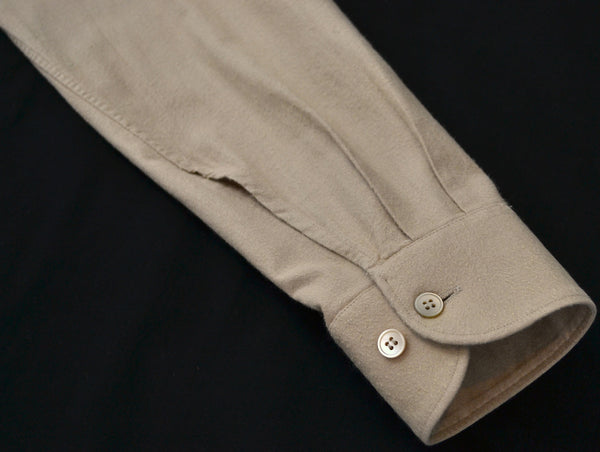 2003 Brushed Cotton Classic Shirt with Bondage Elbow Strap (Camel)