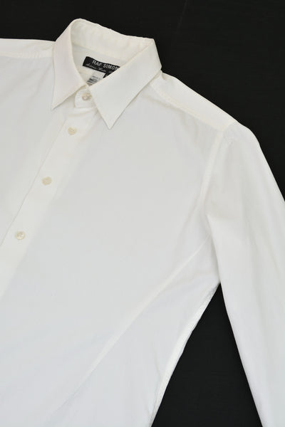 1999 Fine Cotton Darted Shirt with Hunting Pleat Detail