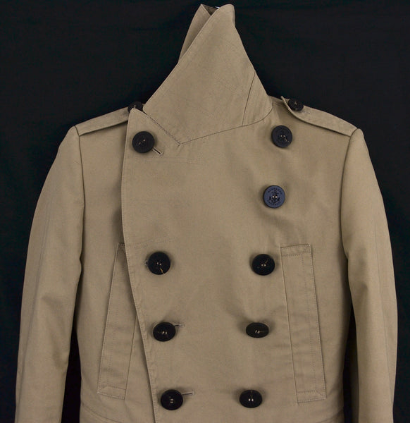 2011 Cotton Twill Military Peacoat with Metal Details