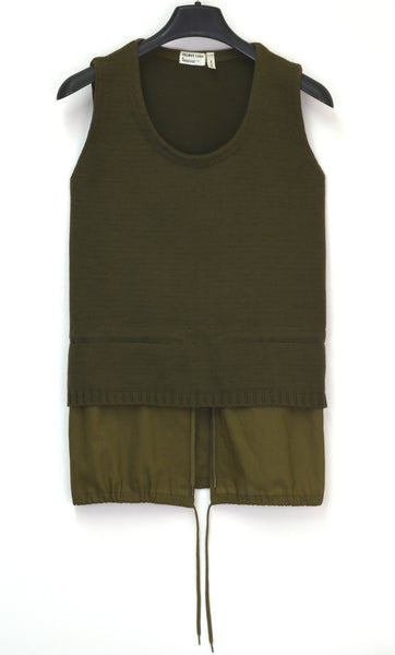 1998 Sleeveless Military Parka Sweater with Layered Hem (Womens' version)
