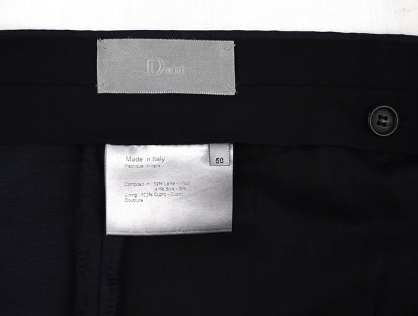 2002 Coated Silk/Wool Tailored Trousers