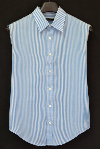 2000 Striped Cotton Classic Sleeveless Shirt