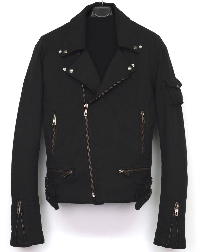 2006 Seersucker Cotton Classic Biker Jacket