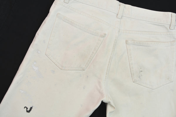 1997 White Vintage Stained Denim Painter Jeans