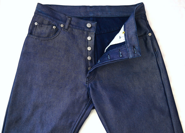 1997 Reverse Raw Polypropylene Denim Jeans