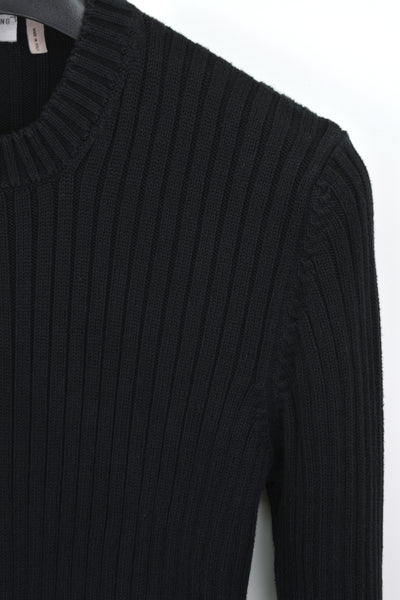 1998 Ribbed Cotton Slim Military Sweater