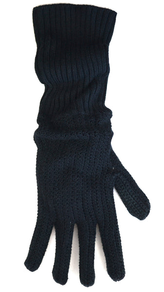 2008 Handknit Crochet Silk Oversized Gloves
