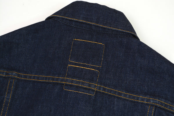 2000 Raw Denim Classic 2-Pocket Jacket with Turn Up Sleeves