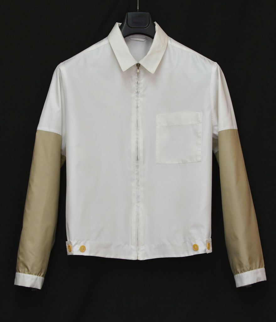 1995 Fine Double Polyester Blouson with Gold Sleeves