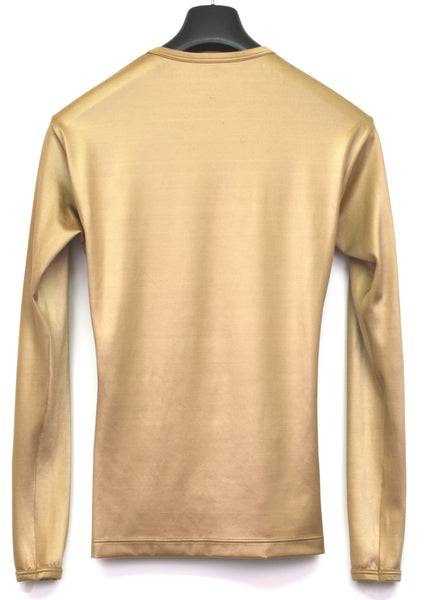 1992 Structured Gold Satin Jersey Slim T-Shirt