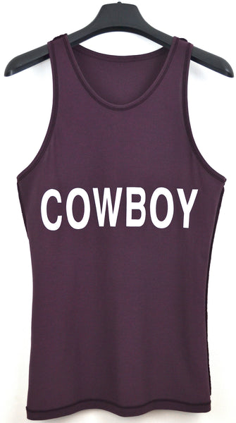 2004 Egyptian Cotton Reverse 'Cowboy' Tank Top