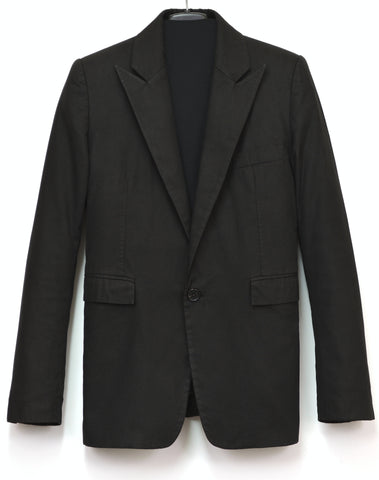 1998 Overdyed Cotton 'SATAN' Peak Lapel Blazer