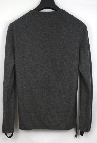2003 Fine Cashmere Sweater with Cuff Straps and Extended Side Zipper