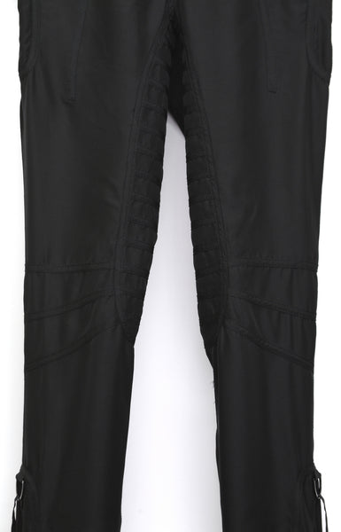 2003 Silk Satin Biker Trousers