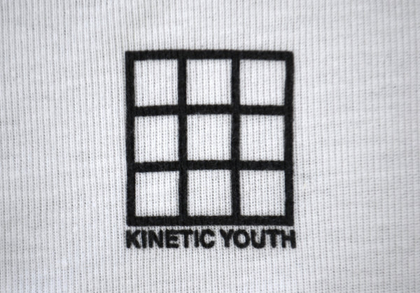 1999 'Kinetic Youth' Badge Curved Hem T-Shirt