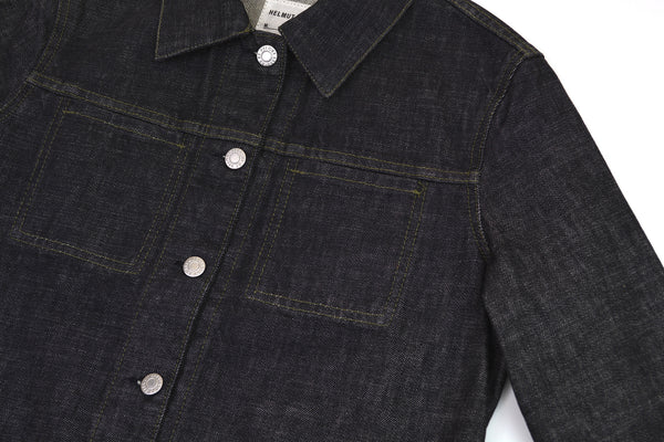 2002 Raw Denim 2 Slash Pocket Jacket with Turn Up Sleeves