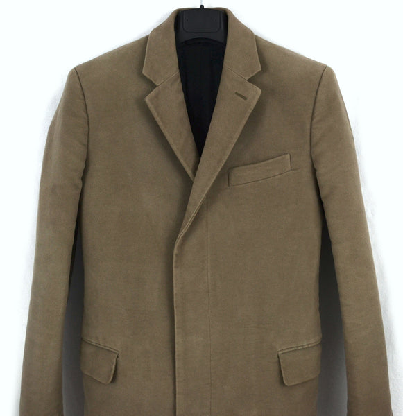 2003 Heavy Moleskin Cotton Chesterfield Coat with Bondage Cuff Straps (Men's version)