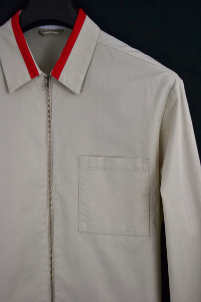 1997 Stretch Cotton Blouson with Contrasting Collar Detail