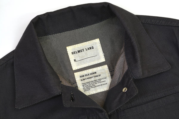 2002 Raw Silk Denim 2 Slash Pocket Jacket with Turn Up Sleeves