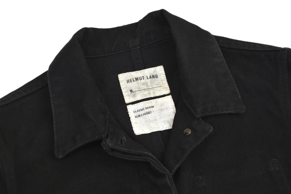 2004 Overdyed Denim Deconstructed 2-Pocket Jacket with Asymmetric Details