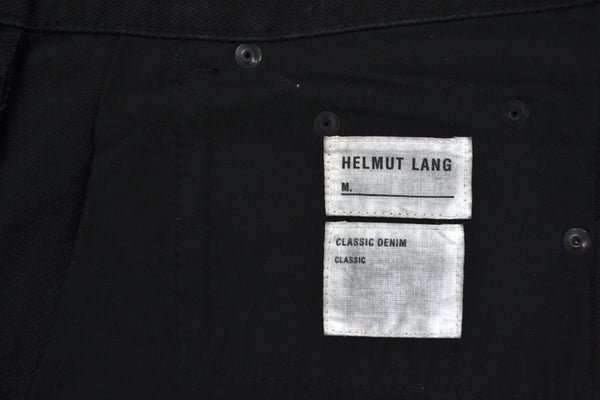 2003 Heavy Overdyed Denim Slim Jeans with Melted Rubber Details