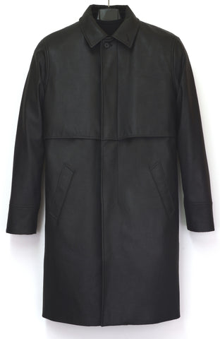 1997 Heavy Rubberised Canvas Half-Raglan Raincoat with Layered Yoke Panel