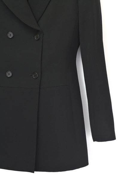 1992 Super 120's Wool Structured Double-Breasted Jacket