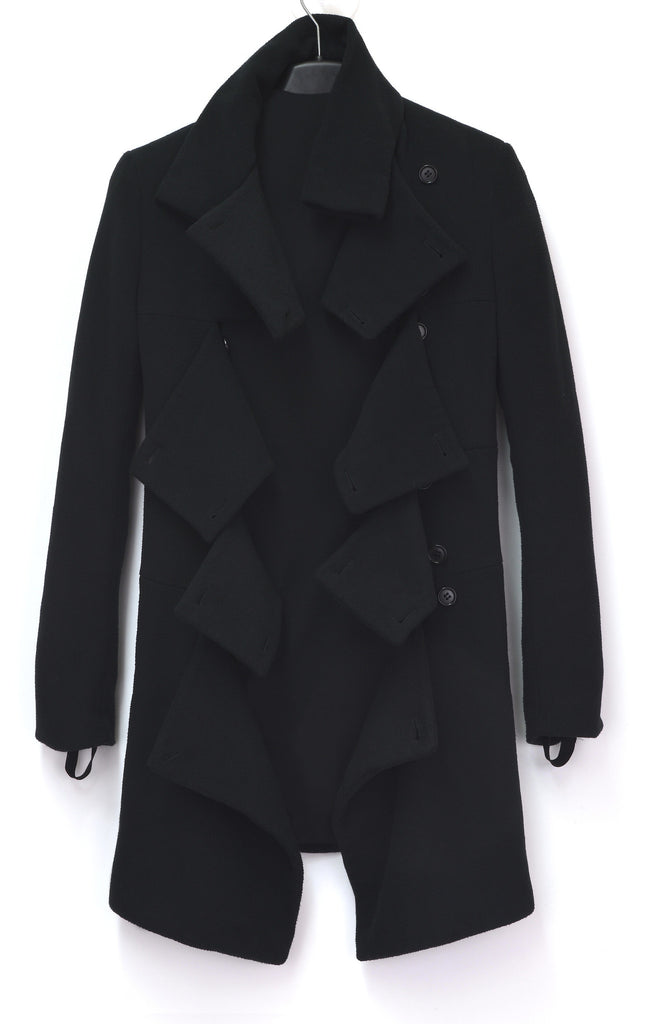 2003 Soft Fleece Slashed Front Coat with Cuff Straps