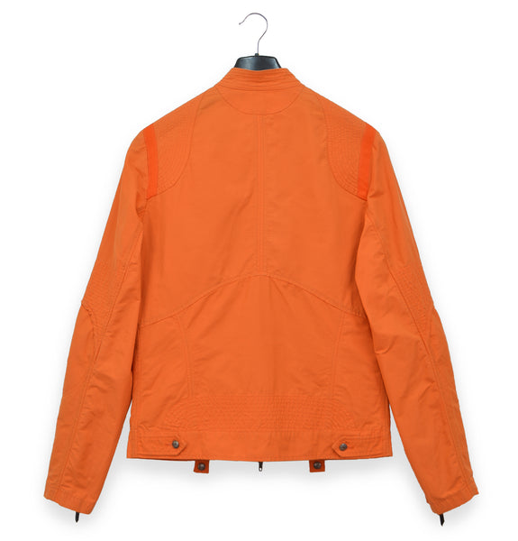 2006 Biker Blouson with Asymmetric Pockets in Compact Cotton