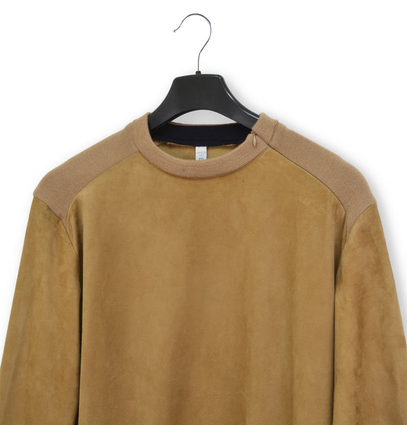 2000 Reversible Pullover with Knit Applications in Goat Suede