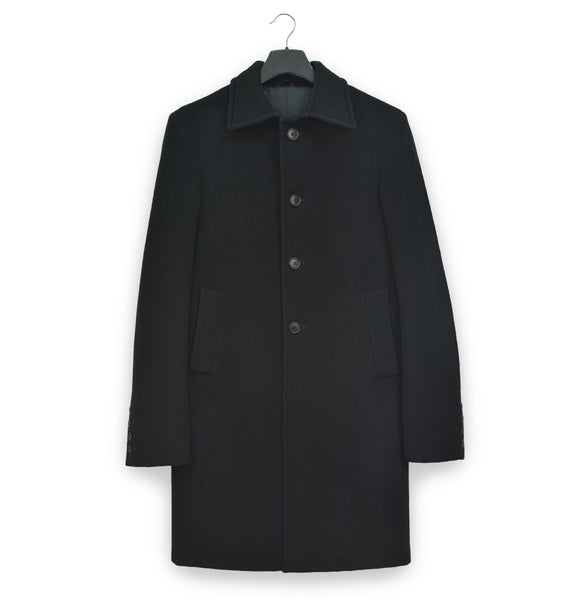 1990s Tailored Car Coat in Melton Wool