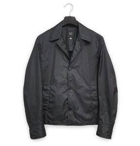 1990s Sartorial Jacket with Point Collar in Coated Nylon
