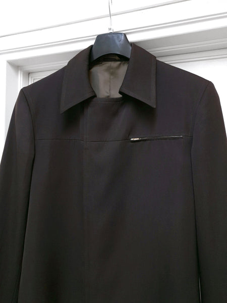 1999 Sartorial Sport Jacket with Zipper Details in Cavalry Twill
