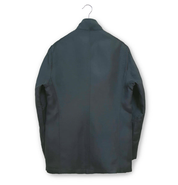 2000 Minimalist Biker Jacket in Technical Coated Linen