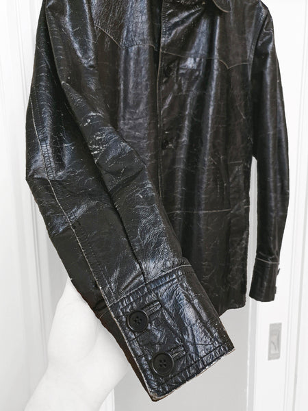 1990s Western Rancher Jacket in Structured High-Contrast Calf Leather