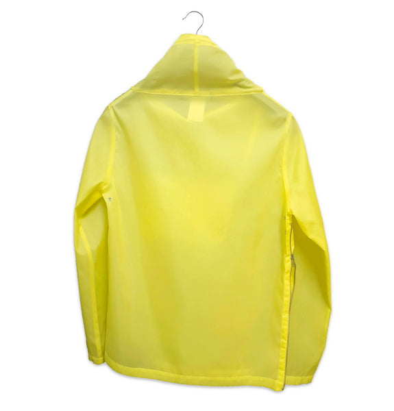 1990s Funnel Neck Pullover Windbreaker with Side Zipper in Fine Translucent Nylon