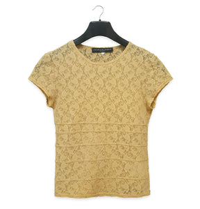 1996 T-Shirt with Seam Details in Stretch Lace